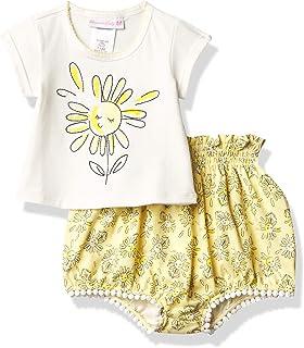 Bonnie Baby Baby Girls Sleeve Short Set
