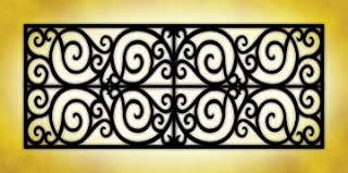 Wrought Iron - 2ft x 4ft Drop Ceiling Fluorescent Decorative Ceiling Light Cover Skylight Film