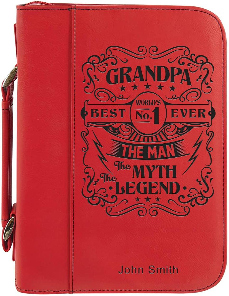Custom Bible Book Mail order Cover Personalized Red Engraved Fresno Mall Laser with