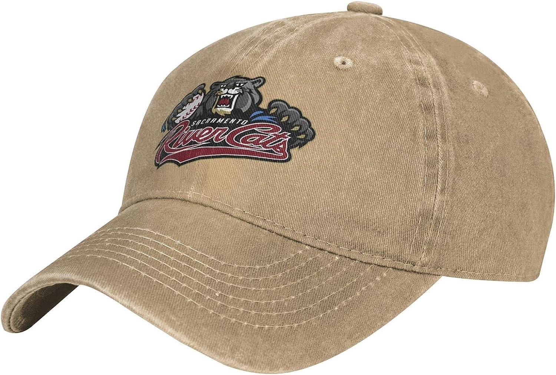 Sacramento River Cats Hats for Men Women College Team Logo Vintage Adjustable Washed Baseball Cap
