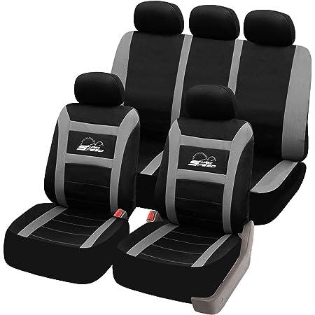 Esituro Universal Sitzbezüge Für Auto Schonbezug Komplettset Schwarz Grau Scsc0096 Auto
