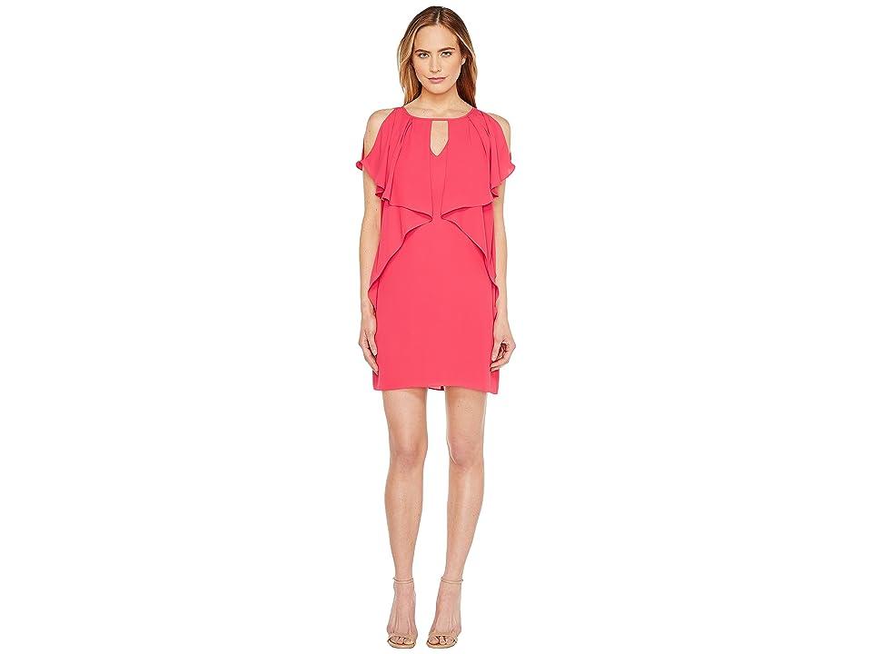 Laundry by Shelli Segal Drapey Sleeve Shift Dress (Bright Rose) Women