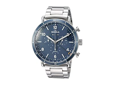Shinola Detroit The Canfield Sport Chronograph Calendar 45mm 20089890 (Polished/Brushed Stainless Steel Bracelet/Midnight Blue Dial) Watches