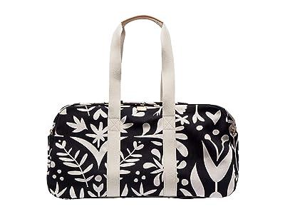 Frances Valentine Otomi Print Duffel (Black) Duffel Bags
