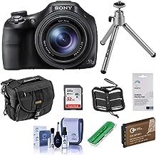 Sony Cyber-Shot DSC-HX400 Digital Camera, 20.4MP, 50x Optical Zoom, Bundle with 32GB Class 10 SDHC Card, Holster Case, Spa...