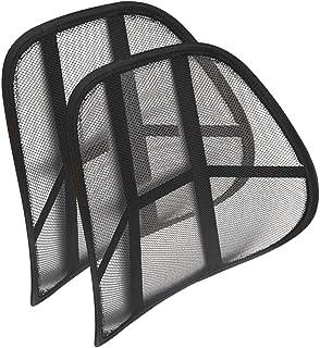 EUROXANTY Soporte Lumbar | Soporte para la Espalda | Respaldo Lumbar | Cojín Lumbar | Cojín Lumbar para Silla de Oficina, Coche o Hogar | Negro | 43 cm