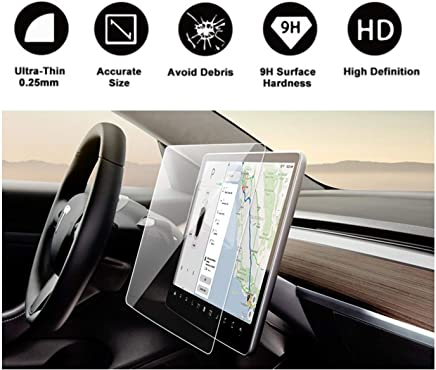 """Tesla Model 3 15"""" Center Control Touchscreen Car Navigation Touch Screen Protector, P50 P65 P80 P80D Tempered Glass 9H Anti-Scratch and Shock Resistant"""