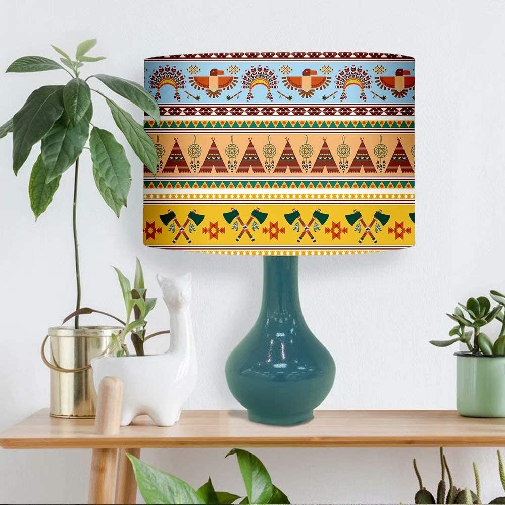 Lamp Super Special SALE held Shade Tribal Ethnic Vintage Fashion Natural Covers Line Table