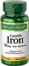 Nature's Bounty Gentle Iron 28 mg 90 Capsules (Pack of 3)