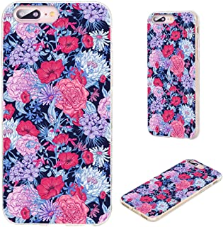 iPhone 8 Plus Case,iPhone 7 Plus Case,VoMotec [Floral Series] Anti-Scratch Ultra Thin Flexible Soft TPU Full Protective Co...