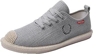 Chaussures décontractées pour Hommes Chaussures en Toile Respirantes légères et antidérapantes à Lacets Espadrilles Plates...