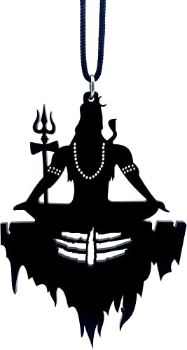 Clean & Clever Car Logo Lord Shiva on Mount Kailash with Tilak Hanging Spiritual Ornament Decor for Rear View Mirror,...