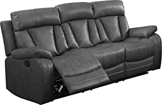 Amazon.com: Grey - Leather / Sofas & Couches / Living Room ...