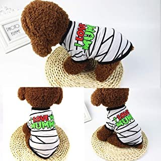 Decdeal Dog Halloween Shirt Pet T Shirt Dog Pet Clothes Pet Halloween Clothes Halloween Costume Dog Shirts
