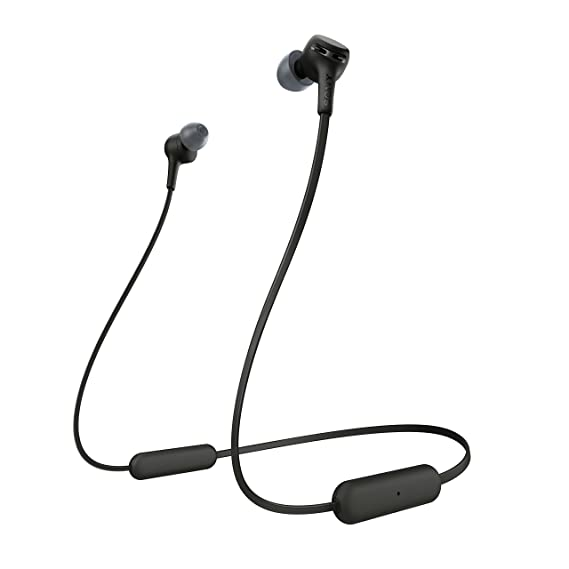Sony WI-XB400 Wireless Extra Bass in-Ear Headphones with 15 Hours Battery Life, Quick Charge, Magnetic Earbuds, Tangle Free Cord, Bluetooth Ver 5.0, Headset with Mic for Phone Calls