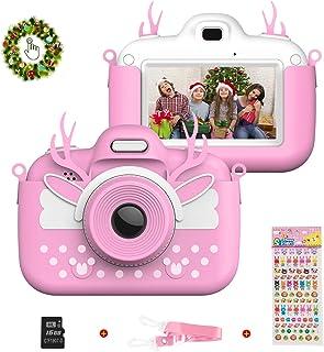 Vannico Camara de Fotos para Niños Cámara para Niños de Fotos Mini Cámara Digital con Tarjeta TF 16gb Niños de 3 a 10 Años (Rosa)