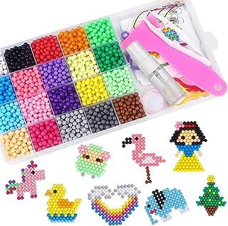 comprar comparacion CGBOOM Abalorios Cuentas de Agua 3000 Perlas Kit 20 Colores Perlas de Agua Niños DIY Educativos Artesanía Kit Beados Recam...