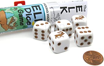 Koplow Games Elk Dice Game with 5 Dice Travel Tube and Gaming Instructions
