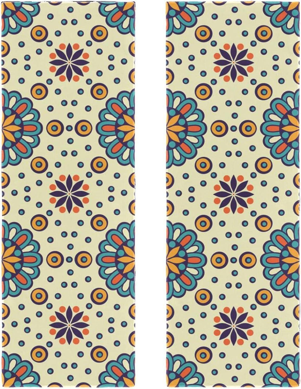 NEW Fast Drying Phoenix Mall Microfiber Towels 2 Boho Mandala Retro Indian Packs