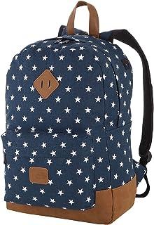Rada Rucksack Schulrucksack mit Sternen Unisex Daypack für Jugendliche Mädchen 40 x 45 x 12,5 cm dunkelblau