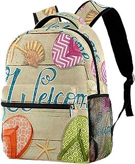 Flip Flop Welcome Lightweight School Classic Backpack Travel Rucksack for Women Teens