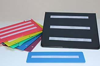 Small Black Picture Photo Book with 5 Color Dividers Measured 8.5x5.5 perfect to keep your loose cards organized.