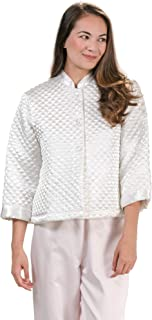 satin quilted bed jacket
