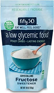 Fifty50 Foods Granulated Fructose Sugar Substitute Sweetener, 10 Ounce (Packaging May Vary)