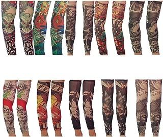 VIGUEUR Tattoos That Look Real Tattoo Arm Sleeves for Men Body Art Tattoo 10 Pairs 20Pcs(Random)