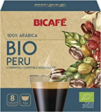 BICAFE - DOLCE GUSTO Compatible Pods/Capsules - ORGANIC PERU = 12 count (pack of 4 = 48 count)