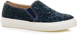 Ajvani Women's Glitter Plimsolls Sneakers Tennis Shoes Size