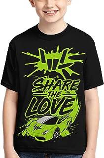 Wakaltk Kids Share The Love Short Sleeve T Shirts Tee Tops for Boys Girls