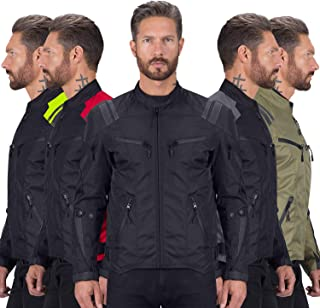Viking Cycle Ironborn Protective Textile Motorcycle Jacket for Men – Waterproof,..