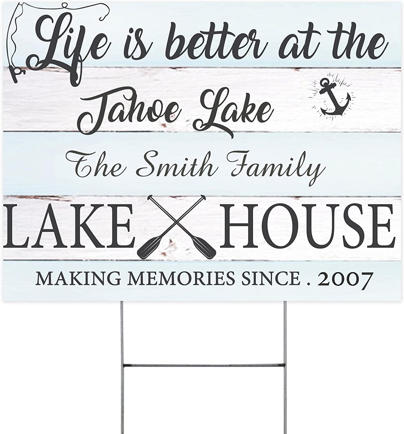 Life Choice is Better Lake House Signs Personalized De Yard Al sold out. Funny