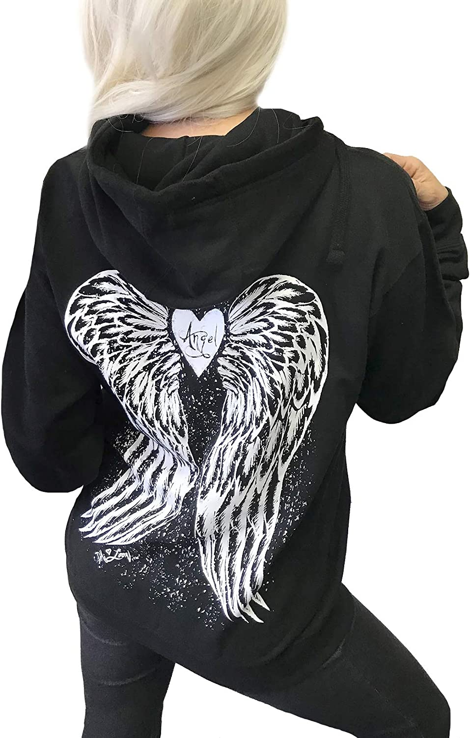 Demi Loon Sexy Angel price Wings Roses Tattoo Wome Hoodie Nashville-Davidson Mall Graphic