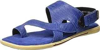 Woodland Men's RBLUE Leather Sandal 8 UK/India (42 EU)-(OGD 3011118)