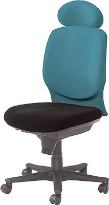 オカムラ オフィスチェア ビラージュ ハイバック 肘なし グリーン/ブラック 8VC23A-FVF5