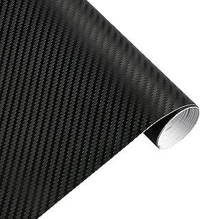 Karlor 3D Carbon Fiber Vinyl Film Car Wrap Sticker 5ft x 1ft Sheet Roll Black Interior DIY 12 Inch x 60 Inch (black)