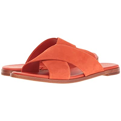 Cole Haan Anica Crisscross Sandal (Spicy Orange Suede) Women