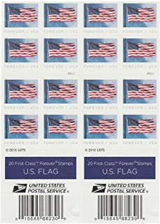 USPS US Flag 2019 Forever First Class Postage Stamps (Book of 40)