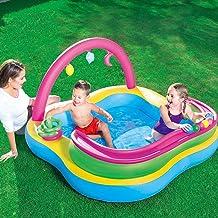 SUNHAON Piscina Inflable para Niños, Piscina Familiar Ocean Pool Piscina Familiar, Diseño De Borde De Arco Iris (tamaño: 61.81 * 61.81 * 35.04in)