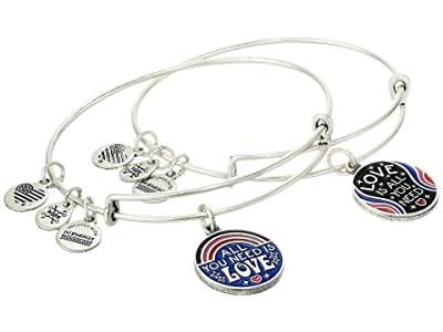 Alex and Ani All You Need Is Love Bracelet Set of 2 (Rafaelian Silver) Bracelet