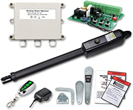 TOPENS A3 Automatic Gate Opener Kit Light Duty Single Gate Operator for Single Swing Gates Up to 12 Feet or 300 Pounds, Gate Motor