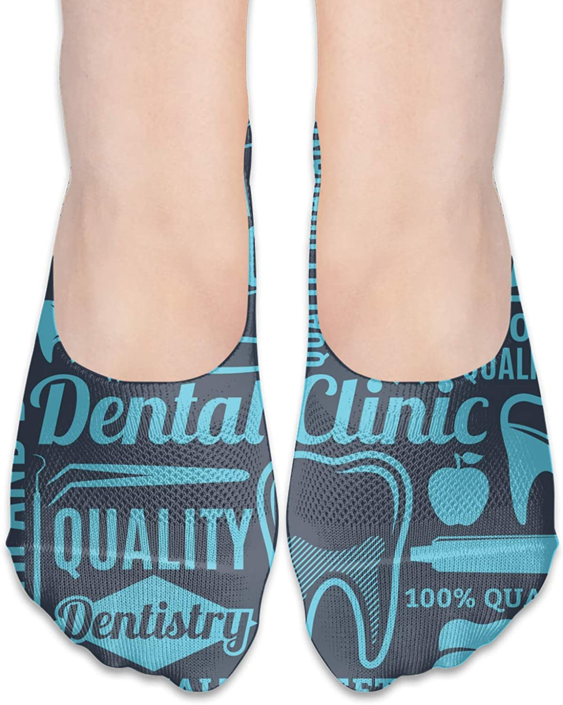 Dental Clinic Comfortable Boat Socks-Sweat Wicking Non-Slip Socks Leisure Sports Deodorant Foot Socks