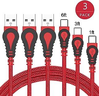 USB TYPEC ケーブル 0.5m+1m+2m 急速充電 断線にくい ナイロン編み WMZ USB C 2.4A急速充電 480Mb/s高速データ転送 QuickCharge3.0対応 Samsung Galaxy Note10/9/8/S8/S8+/S9/S9+/s20/S20+/S20Ultra、LG G5/G6/V20/V30、Sony Xperia XZ/XZs/X Compact、Google Pixel 2 XL、Nexus 5X/6P、Huawei P9、Nintendo Switch などのType-C機器対応 (セットB)