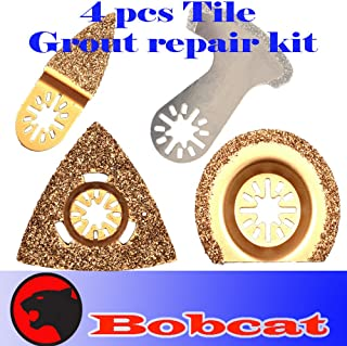 4 Pcs Grout Tile Cut Repair Kit Carbide Diamond Oscillating Multi Tool Saw Blades for Fein Multimaster Bosch Multi-x Craftsman Nextec Dremel Multi-max Ridgid Dremel Chicago