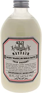 Mayfair Soap Foundry Grapefruit Bergamot Body Wash & Bubble Bath for Women, 16 Ounce