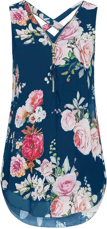 Womens Tops and Blouses, Women Casual Fashion Summer Sleeveless Zipper Vest Top Shirt Slim Blouses Tank Tops