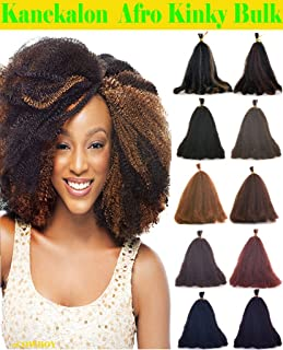 Hot Sell Kanekalon Curly Afro Kinky Bulk Extension Hair for Braiding COLOR Dark Copper Red #350 LENGTH 12'' Three Pack Deal!!!