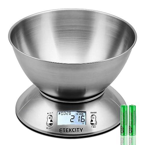 Etekcity EK4150 Báscula Digital para Cocina con Tazón Removible , 11 lbs / 5 kg,